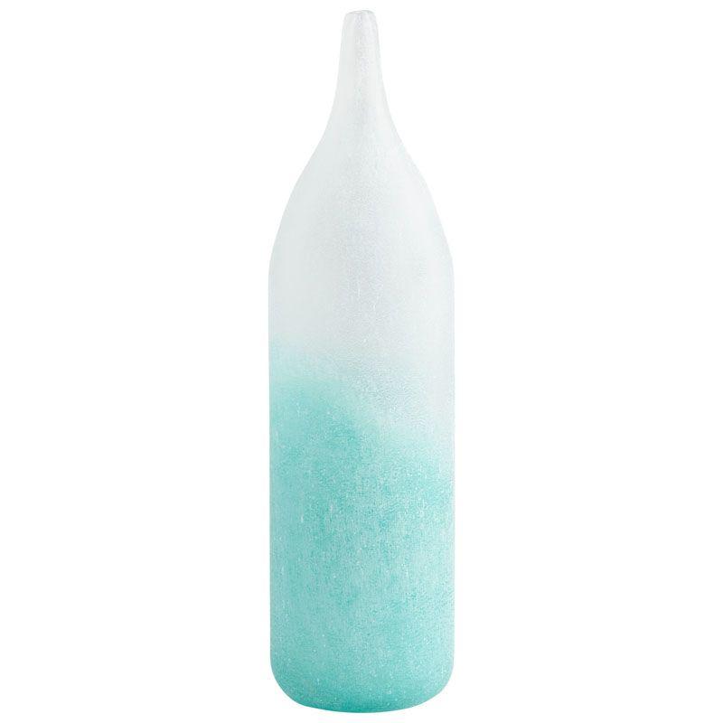 Cyan Design Small Luna Vase Luna 13.5 Inch Tall Glass Vase Sky Blue