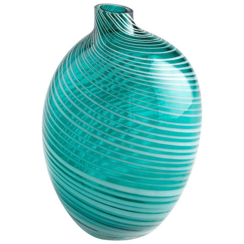 Cyan Design Small Prague Vase Prague 8 Inch Tall Glass Vase Teal Home