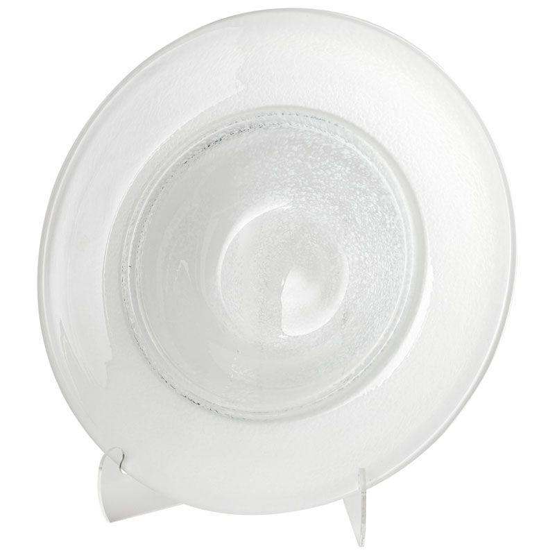 Cyan Design Large Helsinki Plate Helsinki 24 Inch Diameter Glass