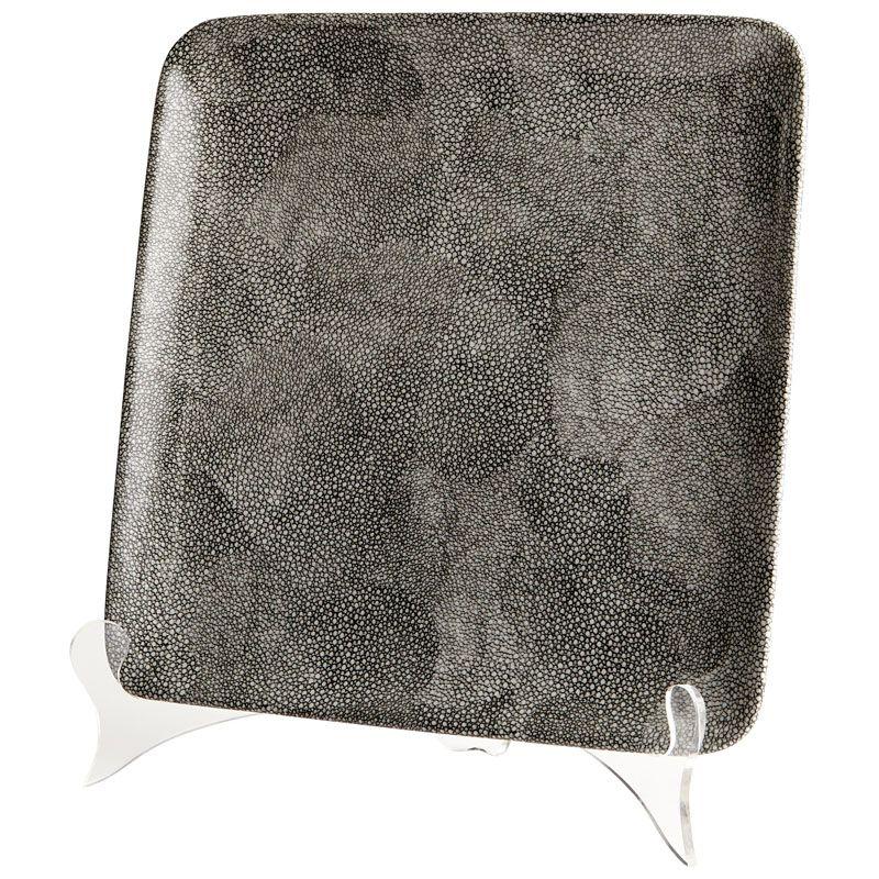 Cyan Design Small Mamba Tray Mamba 10.25 Inch Wide Ceramic Tray Grey