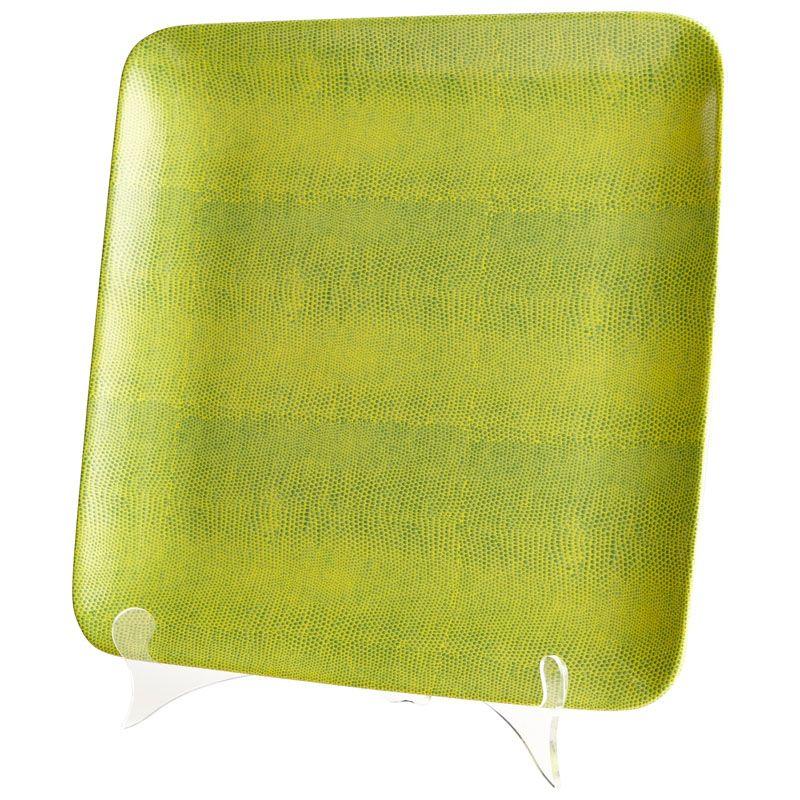 Cyan Design Large Diamondback Tray Diamondback 13.25 Inch Wide Ceramic