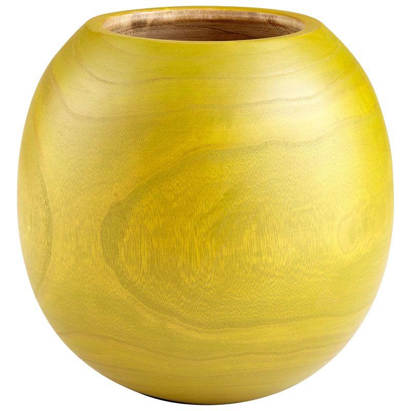 Cyan Design Large Jupiter Vase Jupiter 10.75 Inch Tall Wood Vase Lime