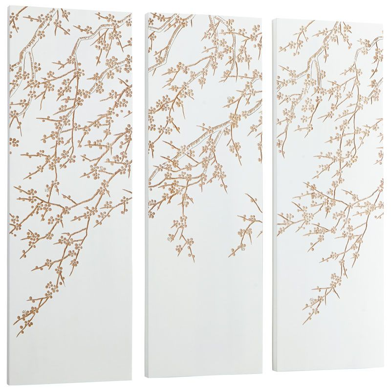 Cyan Design Cherry Blossom Wall Art Cherry Blossom 47.25 x 47.25 Wood