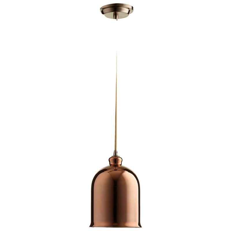 Cyan Design Celia Pendant Celia 1 Light Pendant with Brown Shade Satin