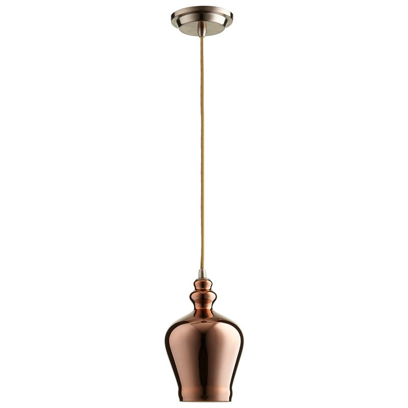Cyan Design Calista Pendant Calista 1 Light Pendant with Brown Shade
