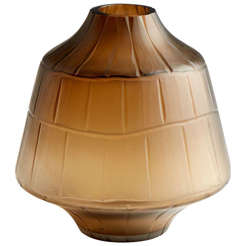 Cyan Design Small Oriana Vase Oriana 9 Inch Tall Glass Vase Amber Home