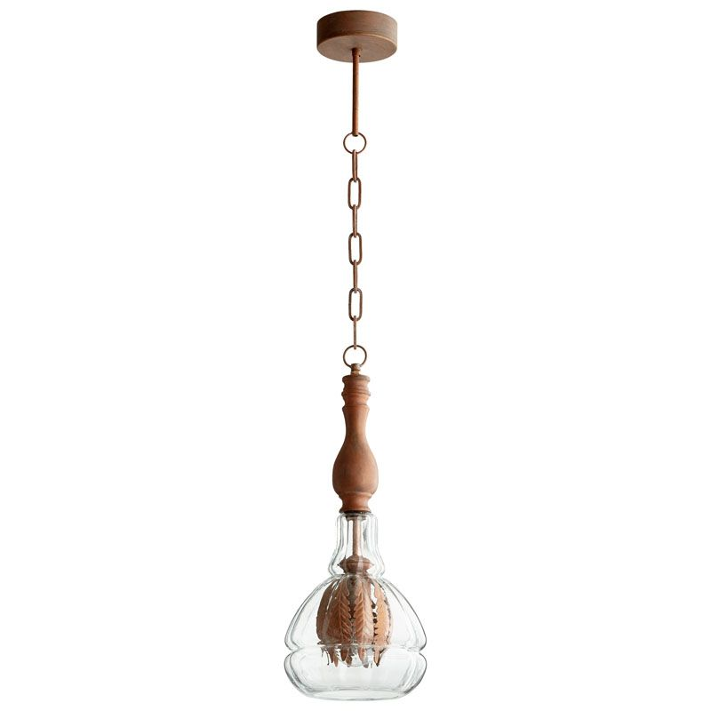 Cyan Design Crescent Pendant Crescent 1 Light Pendant with Clear Shade