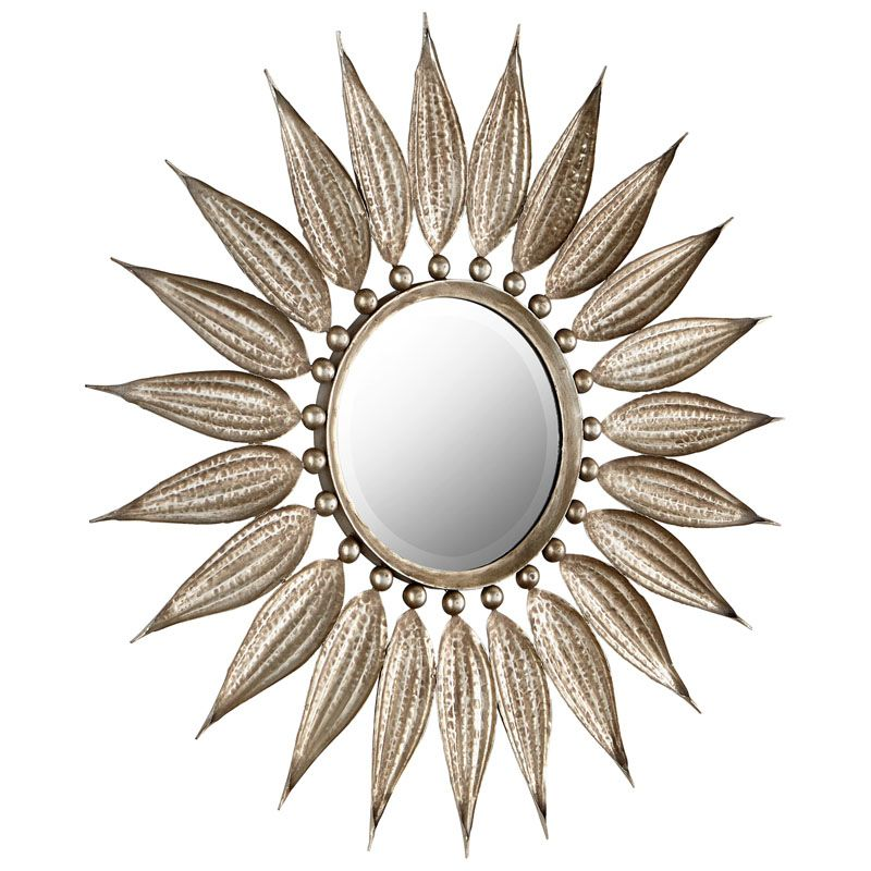 Cyan Design Sunflower Reflections Mirror 7 Inch Diameter Sunflower