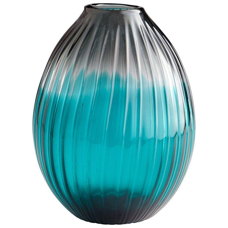 Cyan Design Serenity Teardrop Vase Serenity 12.25 Inch Tall Glass Vase