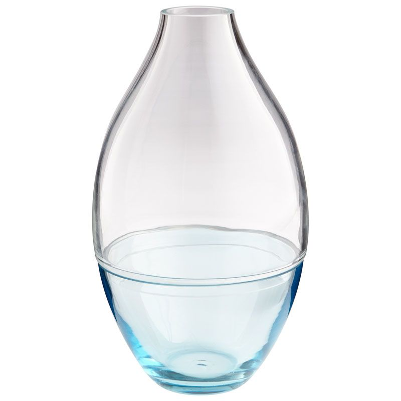 Cyan Design Small Blue Mirage Vase Blue Mirage 12 Inch Tall Glass Vase