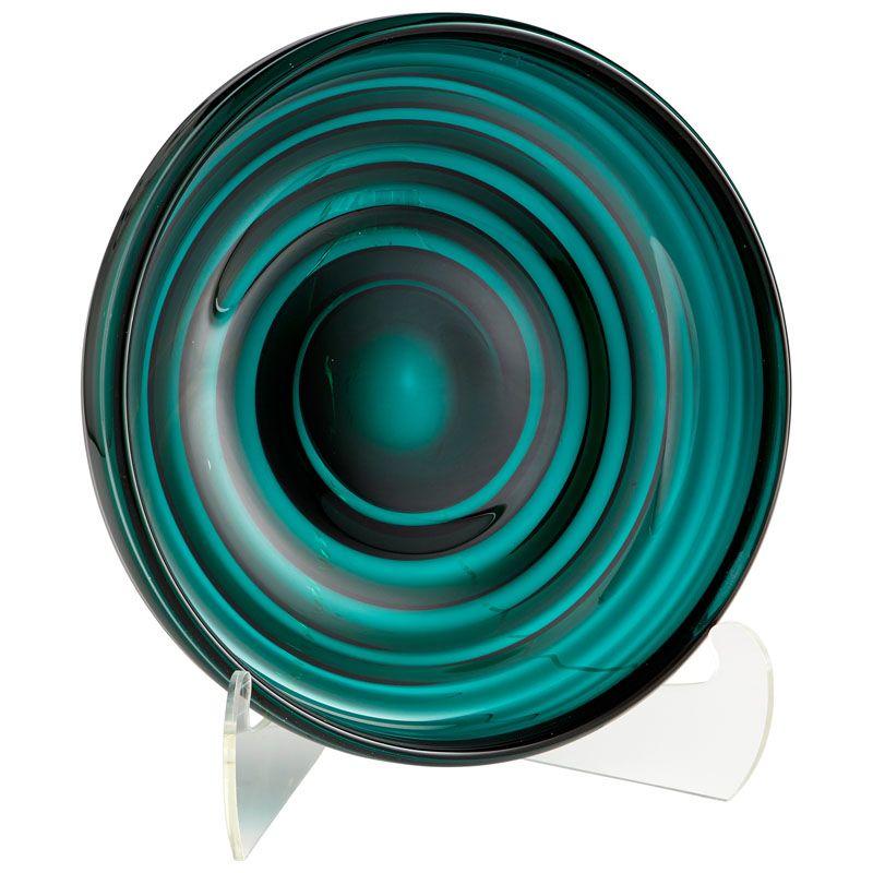 Cyan Design Small Vertigo Plate Vertigo 13.75 Inch Diameter Glass