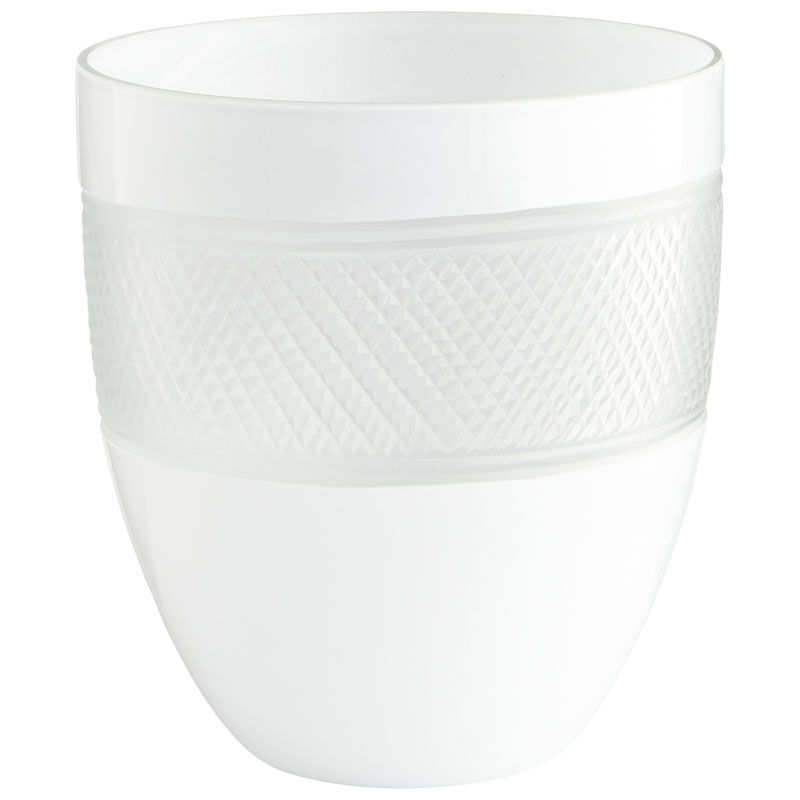 Cyan Design Small Calypso Vase Calypso 8.25 Inch Tall Glass Vase White