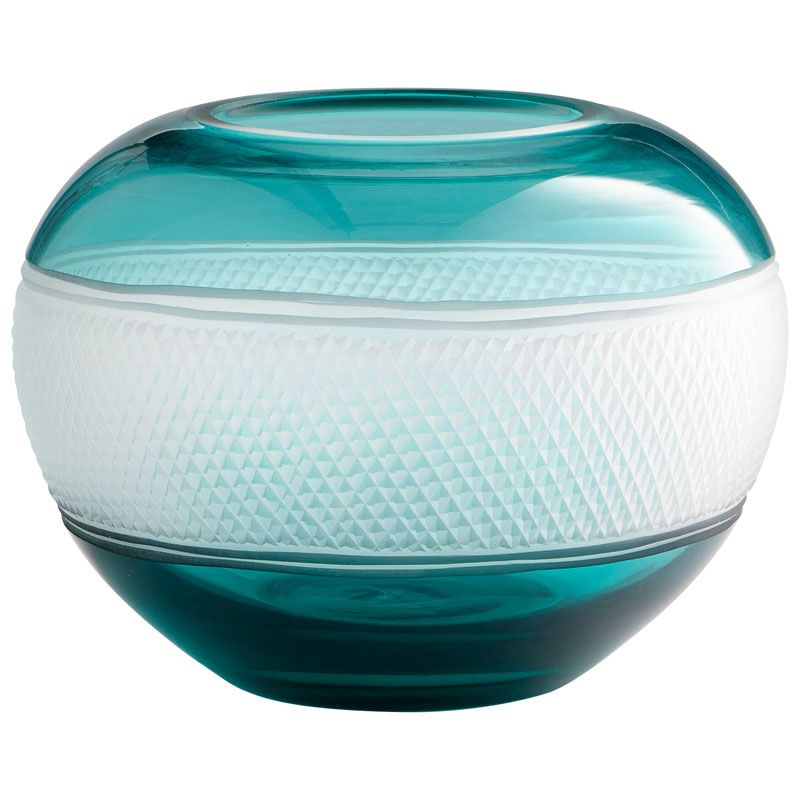 Cyan Design Small Calypso Vase II Calypso 7 Inch Tall Glass Vase Blue