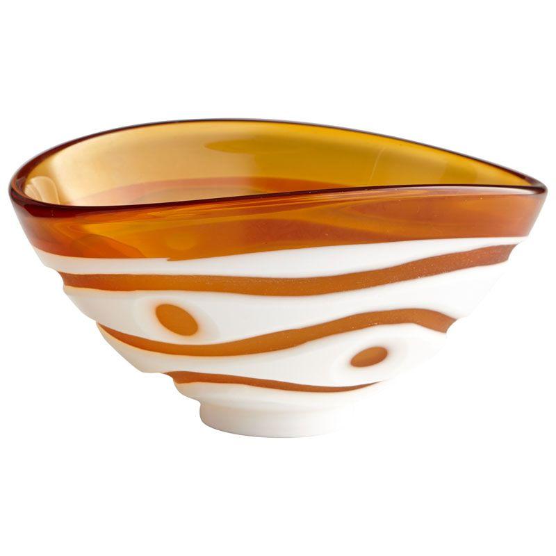 Global Views Grande Footed Bowl: Dimond Home Scoop Leaf Decorative Bowl