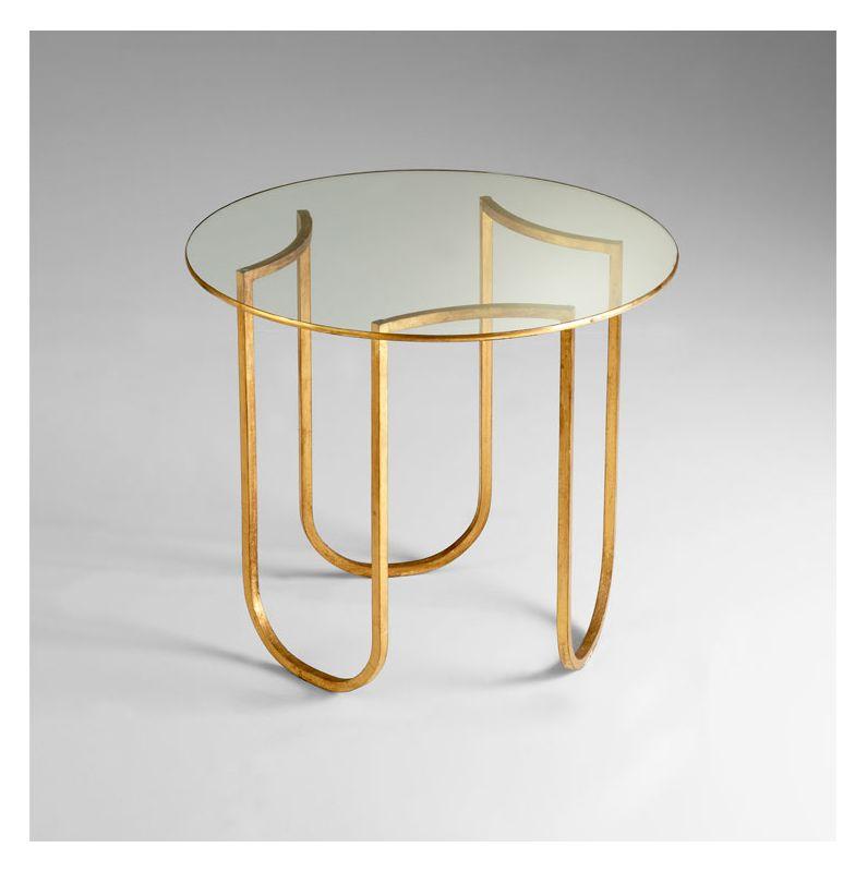 Cyan Design 04690 Vicente Side Table Gold Leaf Furniture End Tables
