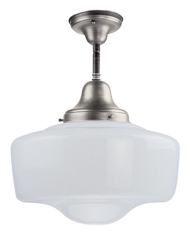 DVI Lighting DVP7511 Schoolhouse 1 Light Energy Star Semi-Flush