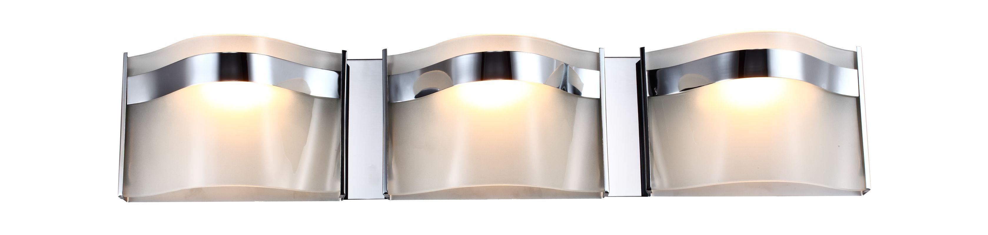DVI Lighting DVP8943 Abyss 3 Light Bathroom Vanity Light Chrome with