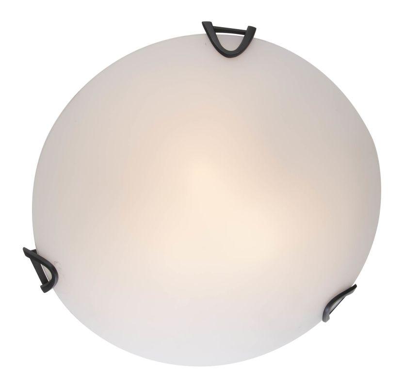 """DVI Lighting DVP0511 Solstice 12"""" Width 2 Light Flush Mount Ceiling"""
