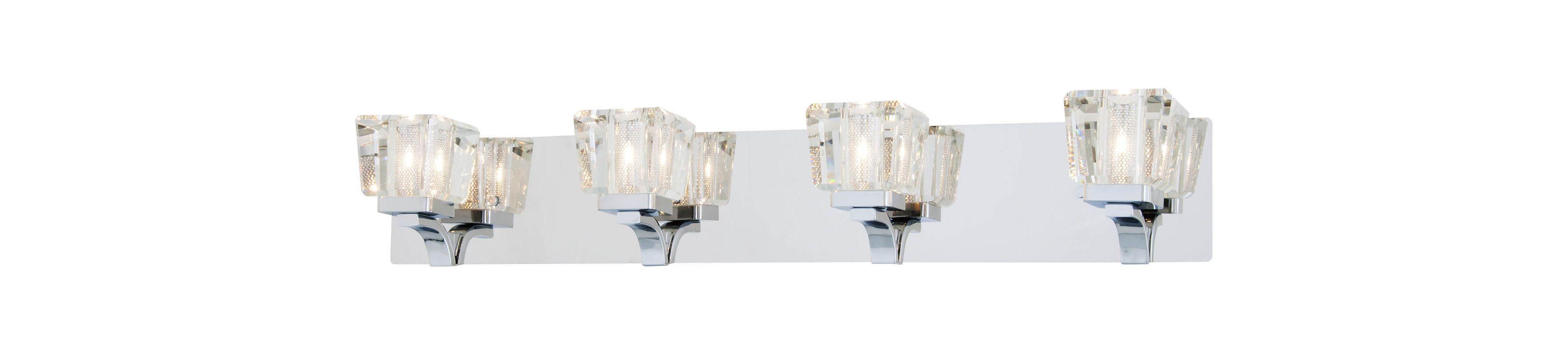 DVI Lighting DVP0744 Beausoleil 4 Light Bathroom Vanity Light Chrome / Sale $487.90 ITEM: bci2273256 ID#:DVP0744CH-CRY UPC: 61467035868 :