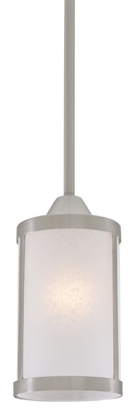 DVI Lighting DVP1121 Uptown 1 Light Mini Pendant Satin Nickel /