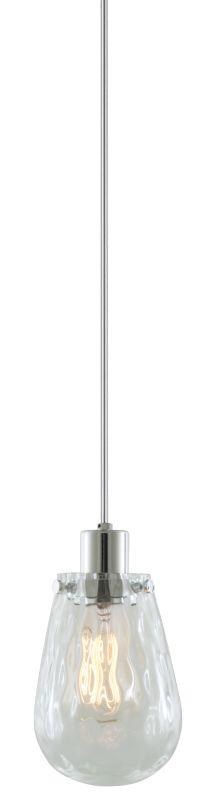 DVI Lighting DVP11621 Union Station 1 Light Mini Pendant Chrome /