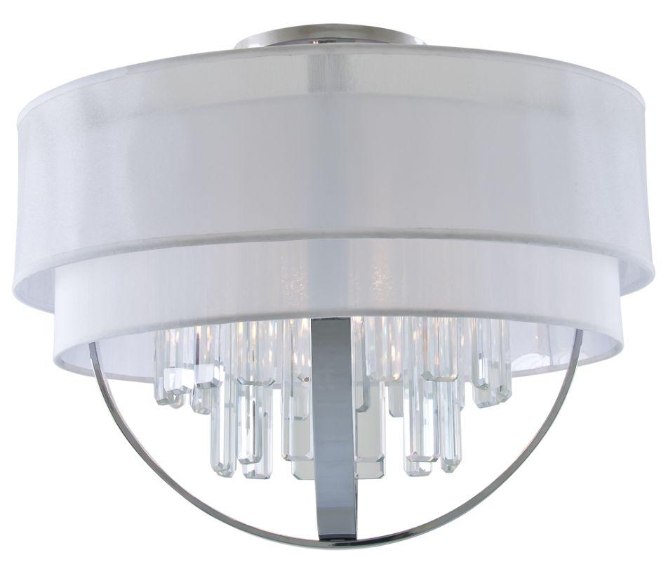 DVI Lighting DVP14112 Hemispheres 3 Light Semi-Flush Ceiling Fixture
