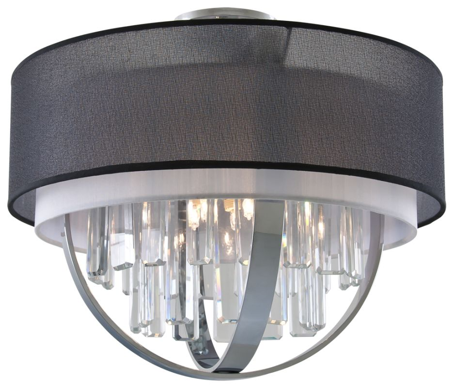 DVI Lighting DVP14118 Hemispheres 5 Light Semi-Flush Mount Ceiling Sale $625.25 ITEM: bci2214271 ID#:DVP14118CH-SGW UPC: 61467031907 :