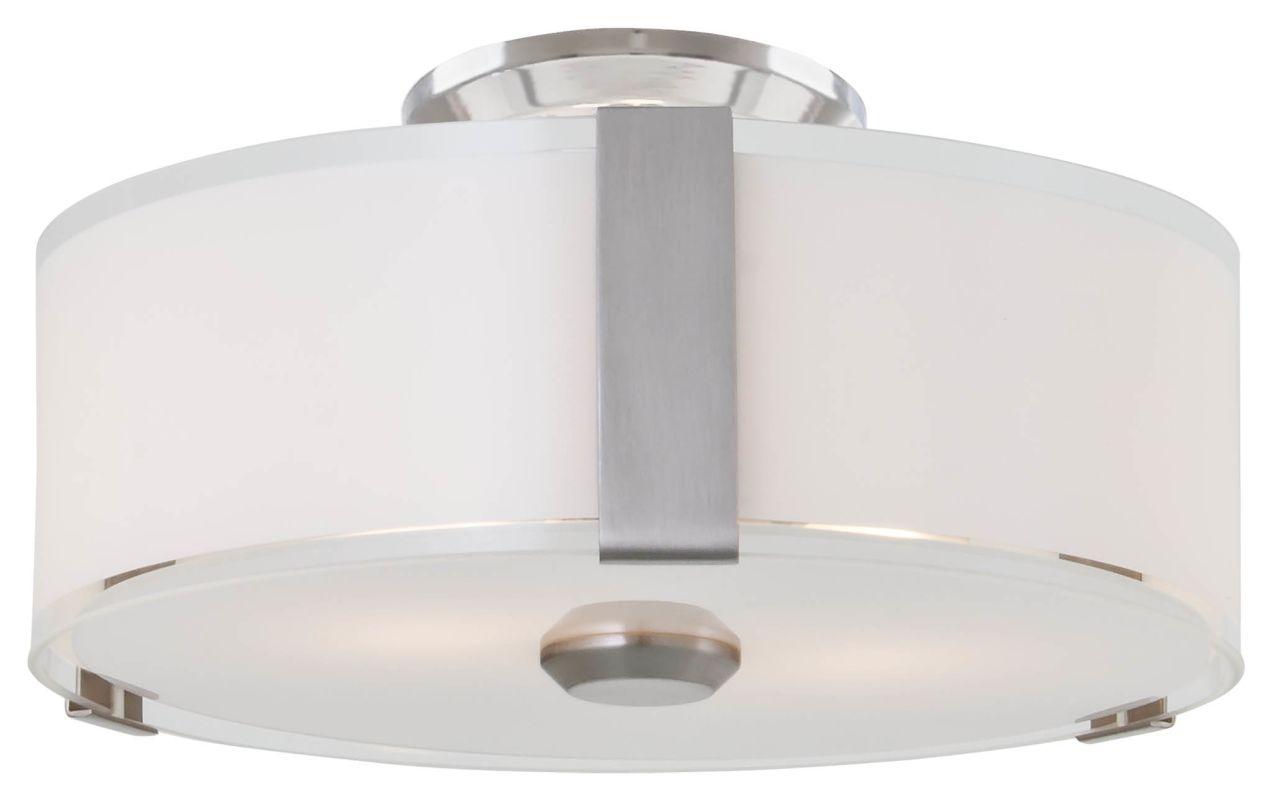 DVI Lighting DVP14532 Zurich 3 Light Flush Mount Ceiling Fixture Satin
