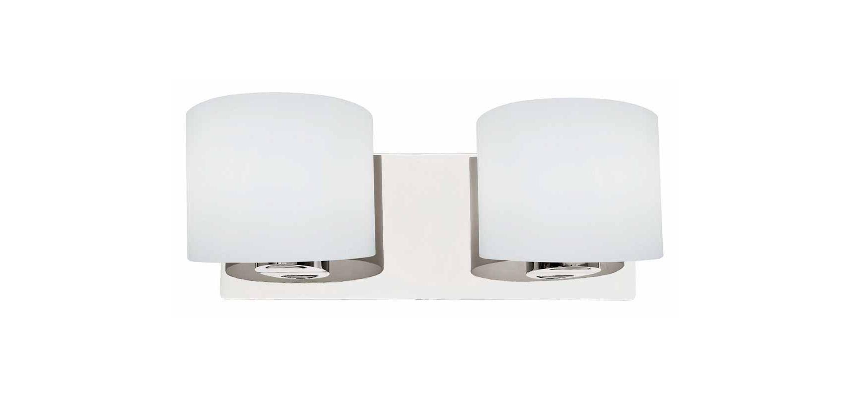 DVI Lighting DVP3122 Normandy Two-Light Bathroom Fixture Chrome with