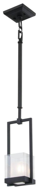 DVI Lighting DVP3921 Narvik 1 Light Mini Pendant Graphite / Half Opal