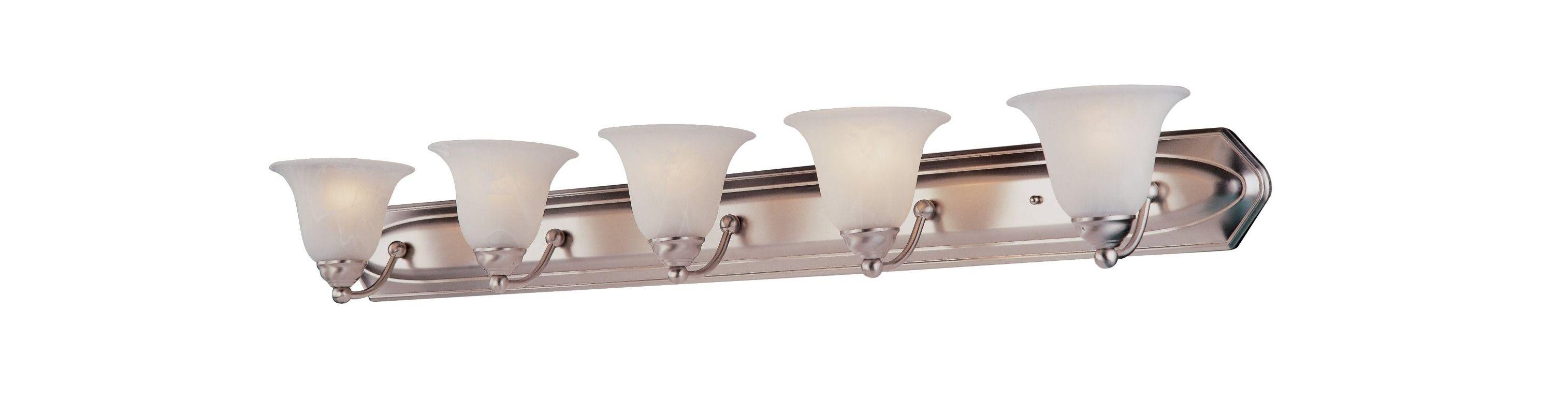 DVI Lighting DVP42405 Diamond 5 Light Incandescent Bathroom Vanity