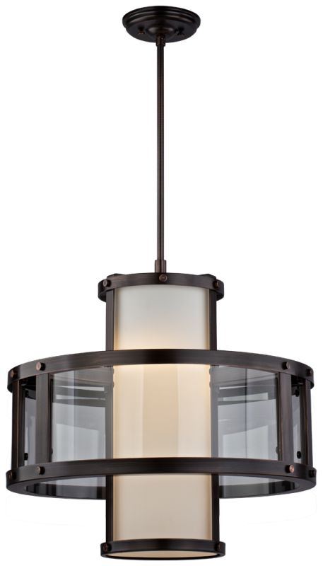 DVI Lighting DVP5420 Isabella 3 Light Pendant Oil Rubbed Bronze Indoor