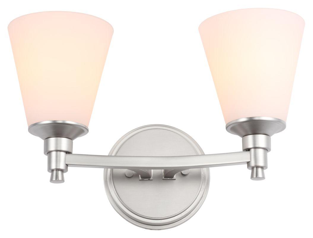 DVI Lighting DVP7222 Georgetown Two-Light Bathroom Fixture Chrome with