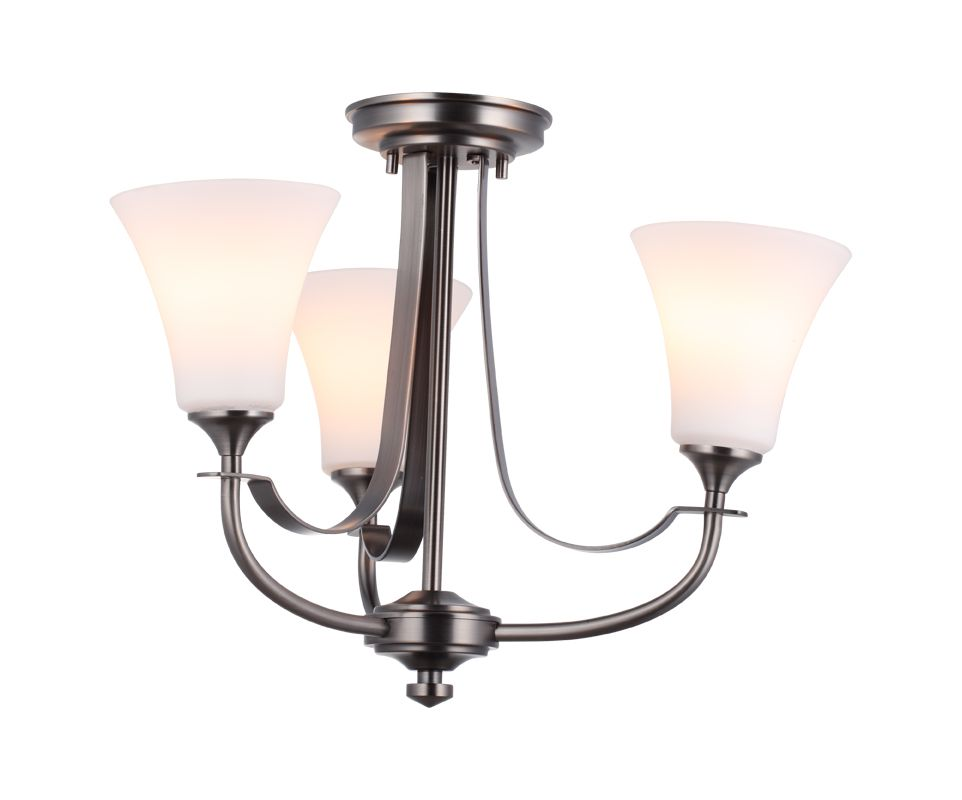 DVI Lighting DVP8303 Richmond Three-Light Semi-Flush Ceiling Fixture Sale $165.05 ITEM: bci1986924 ID#:DVP8303PW-OP UPC: 61467018236 :