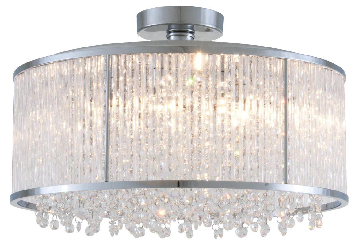 """DVI Lighting DVP8517 Sparxx 18.5"""" Width 6 Light Semi-Flush Ceiling"""