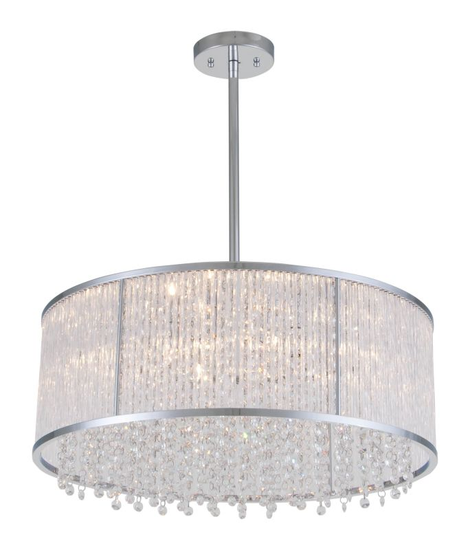 "DVI Lighting DVP8520 Sparxx 7.25"" Height 6 Light Pendant Chrome /"