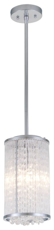 DVI Lighting DVP8521 Sparxx 2 Light Mini Pendant Chrome / Clear