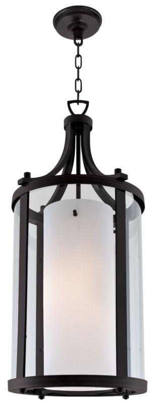 DVI Lighting DVP9011 Essex 2 Light Pendant Graphite / Half Opal Indoor