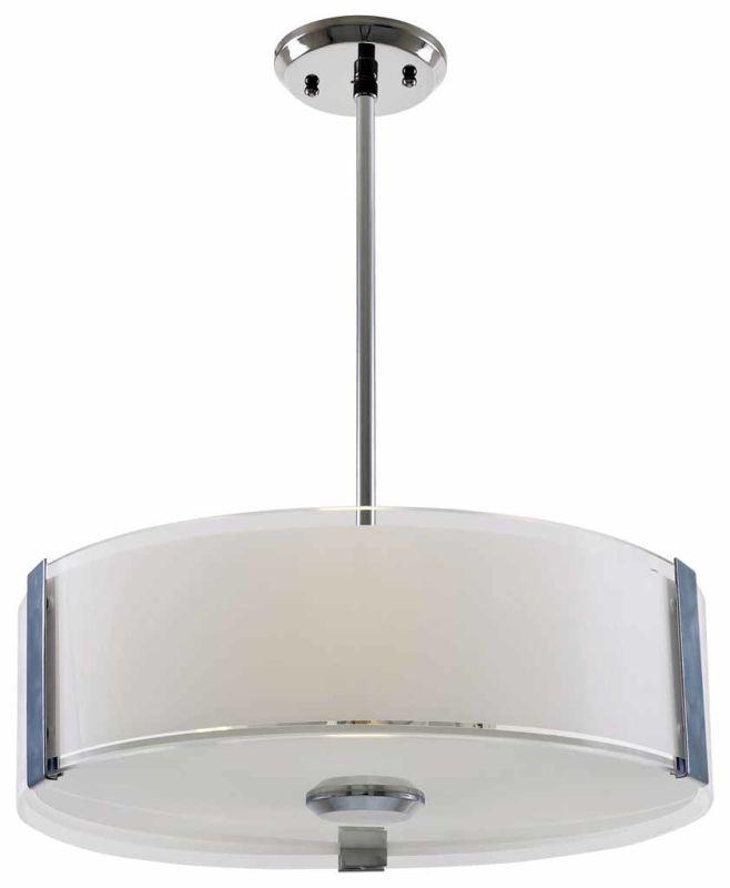 "DVI Lighting DVP14506 Zurich 16"" Height 3 Light Pendant Chrome with"
