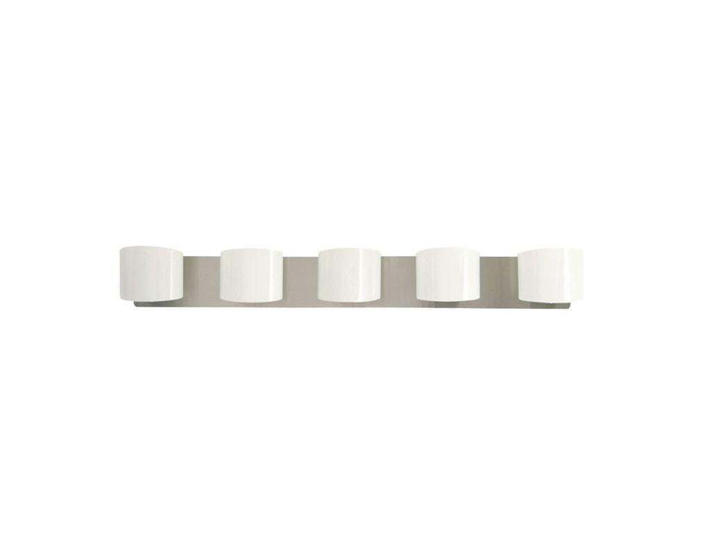 DVI Lighting DVP3155 Normandy Five-Light Bathroom Fixture Chrome with