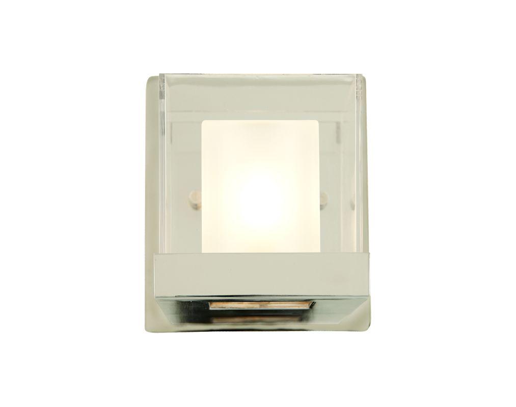 DVI Lighting DVP3902 Narvik Single-Light Wall Sconce Chrome with Half