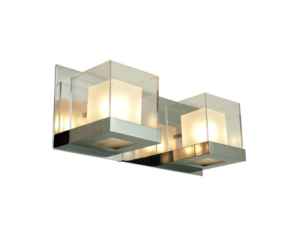 DVI Lighting DVP3922 Narvik Two-Light Bathroom Fixture Chrome with