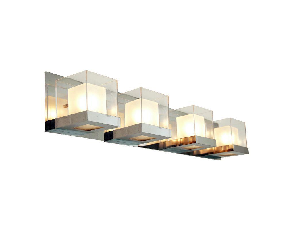 DVI Lighting DVP3944 Narvik Four-Light Bathroom Fixture Chrome with