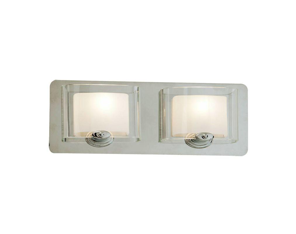DVI Lighting DVP7822 Chaparral Two-Light Bathroom Fixture Chrome with