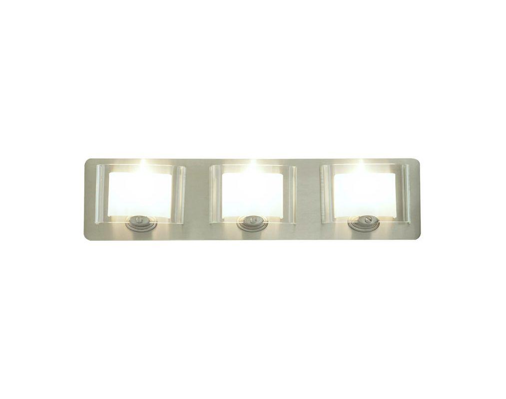 DVI Lighting DVP7843 Chaparral Three-Light Bathroom Fixture Chrome
