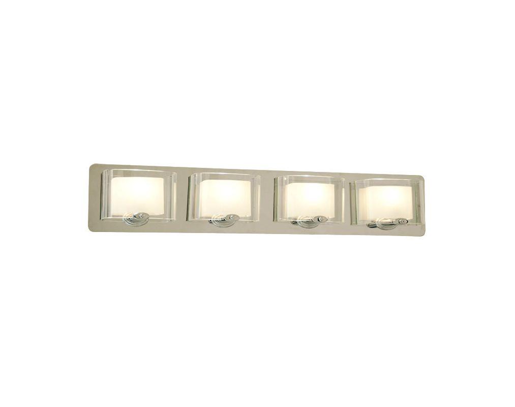 DVI Lighting DVP7844 Chaparral Four-Light Bathroom Fixture Chrome with