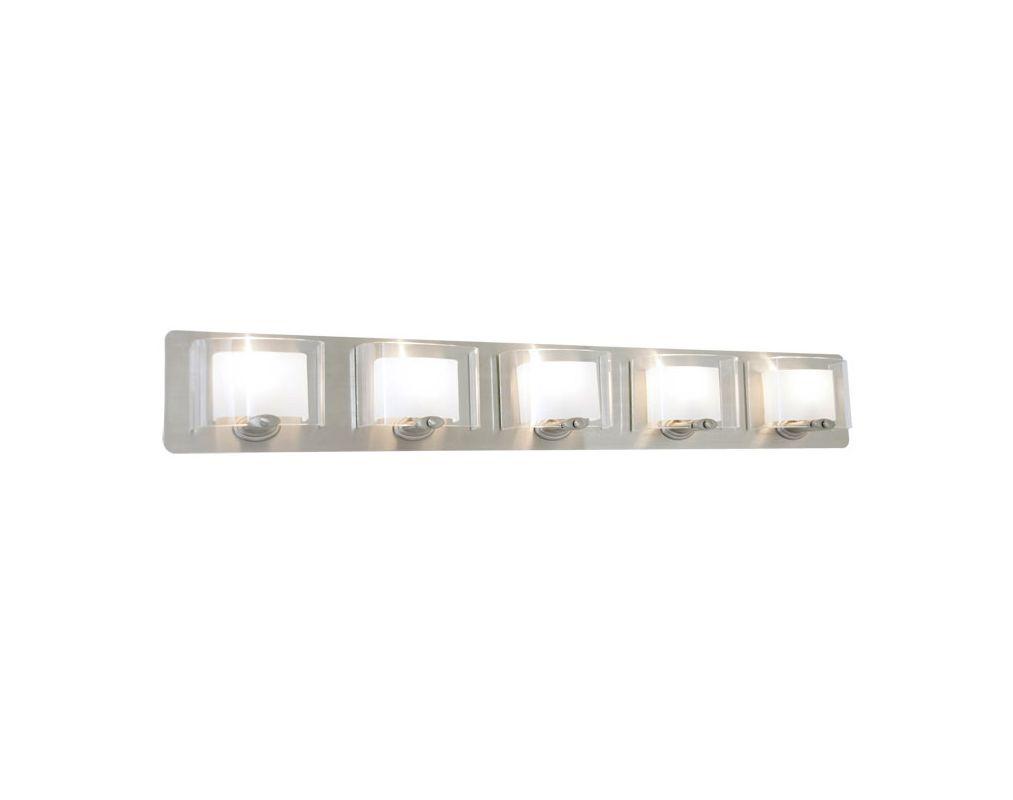 DVI Lighting DVP7855 Chaparral Five-Light Bathroom Fixture Chrome with