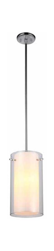 "DVI Lighting DVP9021 Essex 13.5"" Height 1 Light Mini Pendant Chrome"