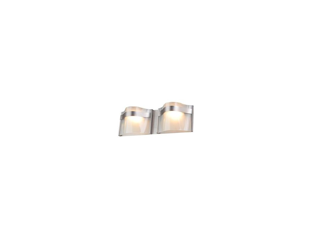 DVI Lighting DVP8922 Abyss 2 Light Bathroom Vanity Light Buffed Nickel