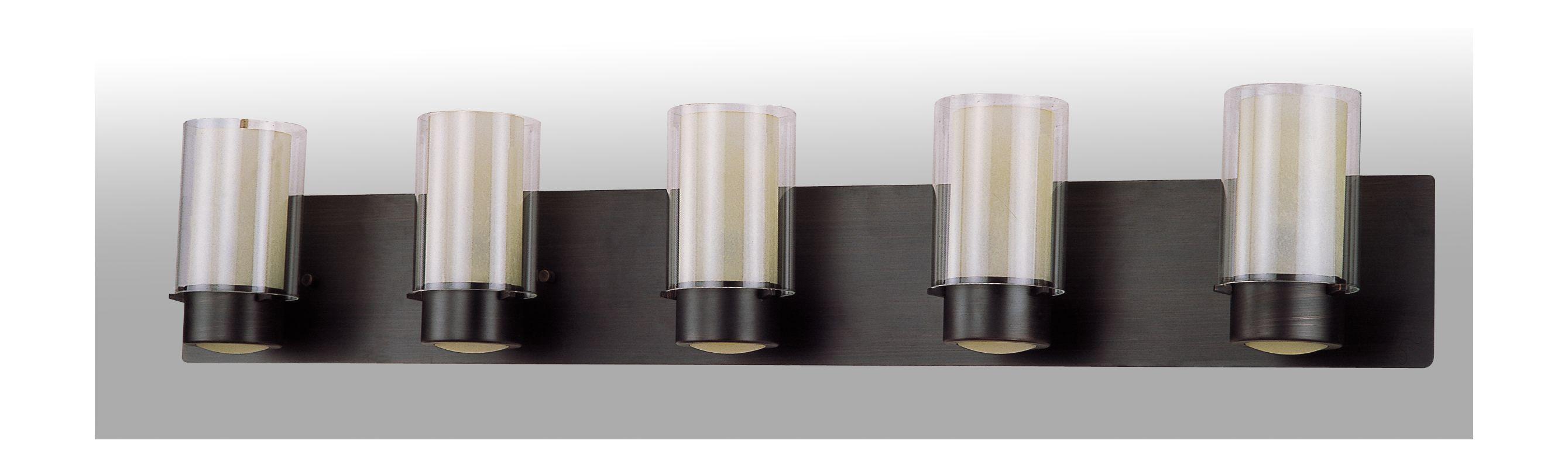 DVI Lighting DVP9055 5 Light Vanity from the Essex Collection Oil